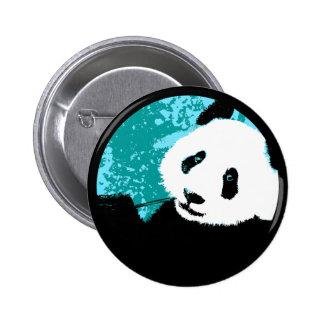panda. 6 cm round badge