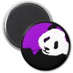 panda. 6 cm round magnet