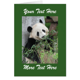 Panda  Add Your Own Text Blank Inside All Occasion Greeting Card