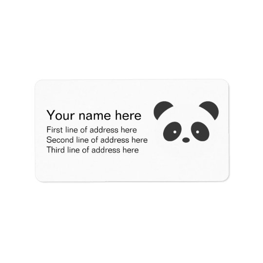 Panda address label