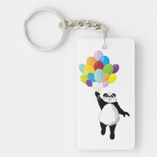 Panda and Balloons Keychain