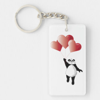 Panda and Balloons Keychain