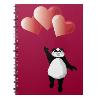 Panda and Balloons Notepad Notebook