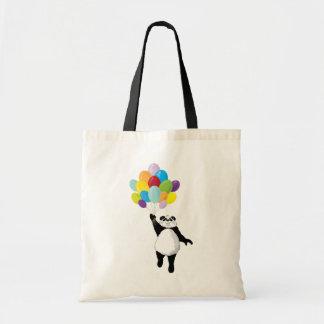 Panda and Balloons Tote Tote Bag