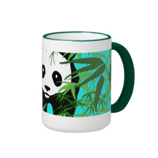 Panda and Bamboo Ringer Mug