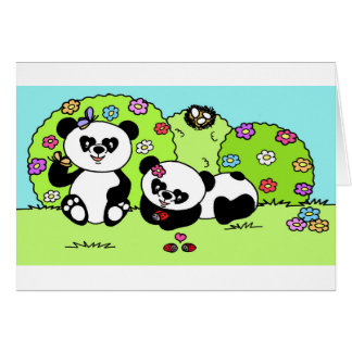 panda and butterfly card