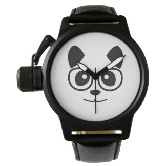 Panda And Glasses Wristwatches
