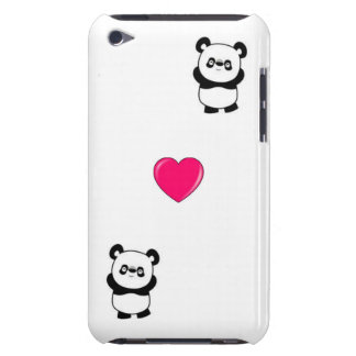 Panda and Heart Ipod Touch Case