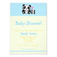 Panda Baby Shower - Blue & Orange