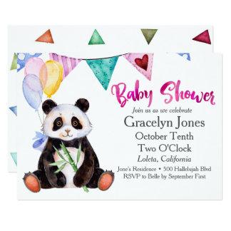 Panda Baby Shower Card