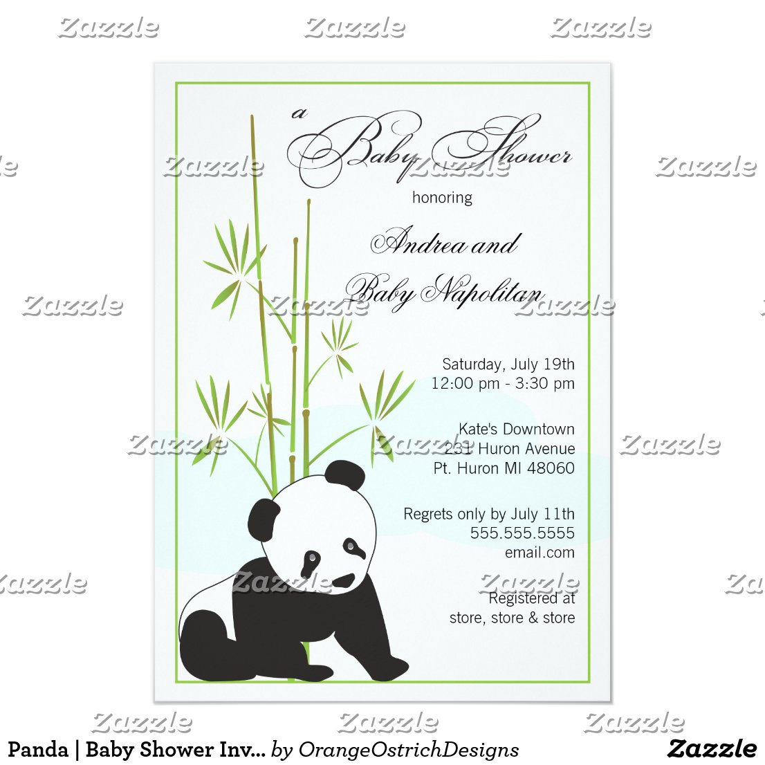 Panda | Baby Shower Invitations