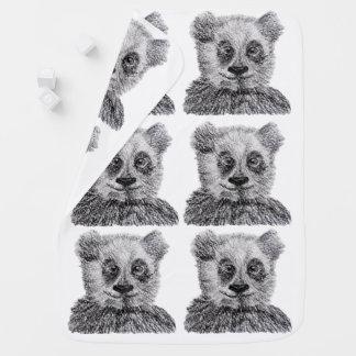 Panda Baby Sketch Baby Blanket