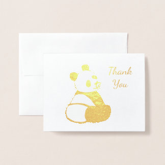 Panda Baby Thank You Foil Card
