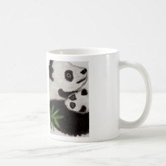 Panda & Baby Watercolour painting Art Mug birthday