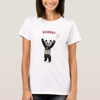 Panda Badminton Score T-Shirt
