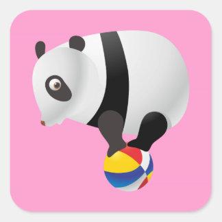 Panda Balancing Ball Square Sticker