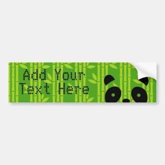 panda bamboo bumper sticker