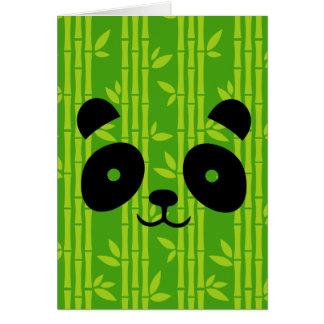 panda bamboo card