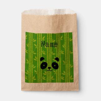 panda bamboo favour bags