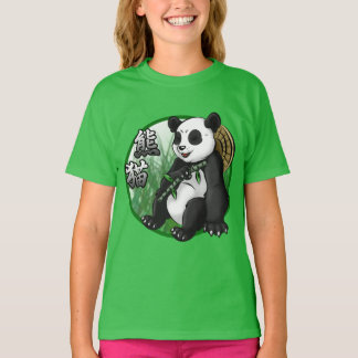 Panda & Bamboo Girls' Hanes TAGLESS® T-Shirt