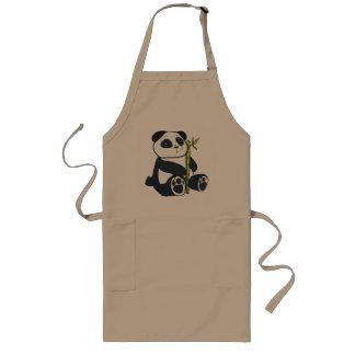Panda bamboo long apron