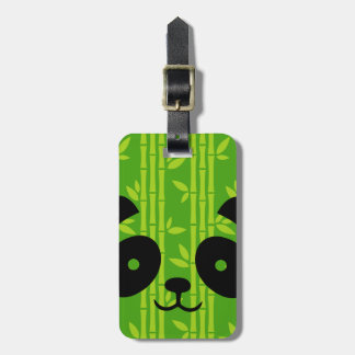 panda bamboo luggage tag