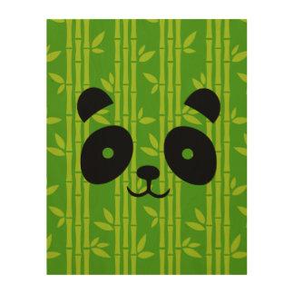panda_bamboo wood print
