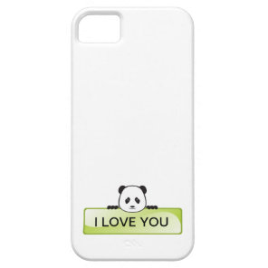 Panda Banner Barely There iPhone 5 Case