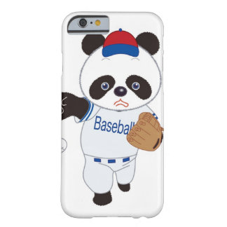 Panda Baseball Player Pitching a Baseball Barely There iPhone 6 Case