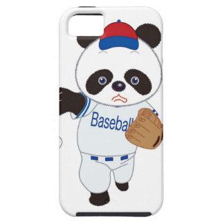 Panda Baseball Player Pitching a Baseball iPhone 5 Cases
