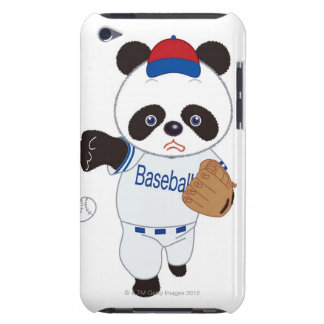 Panda Baseball Player Pitching a Baseball iPod Touch Case