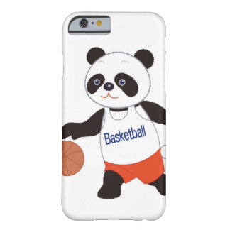 Panda Basketball Player Dribbling Barely There iPhone 6 Case