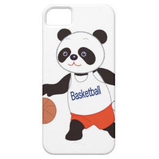 Panda Basketball Player Dribbling Case For The iPhone 5
