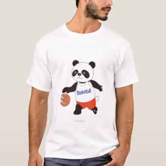 Panda Basketball Player Dribbling T-Shirt