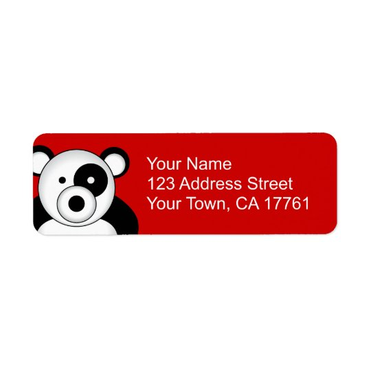 Panda Bear Address Labels