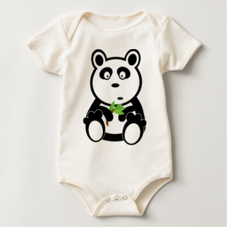 Panda Bear and Bamboo Baby Bodysuit