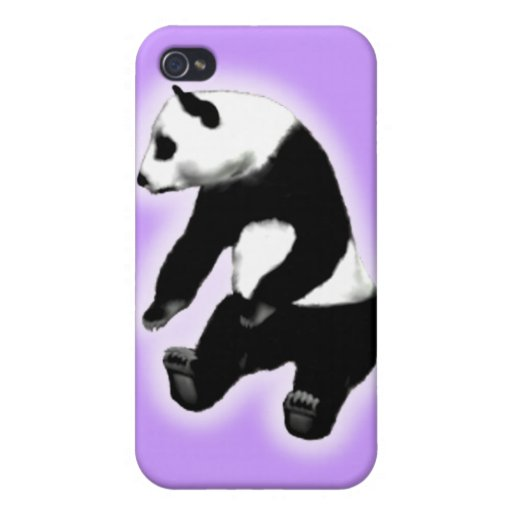 Panda bear asian bamboo zoo animal cute cuddly case for iPhone 4