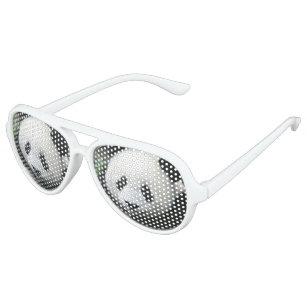 Panda Bear Aviator Sunglasses