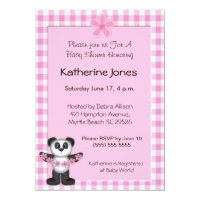 Panda Bear Baby Shower Invitaions
