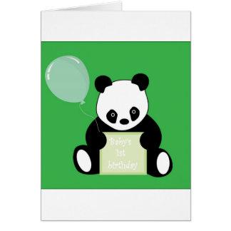 Panda Bear Babys 1st Birthday Card