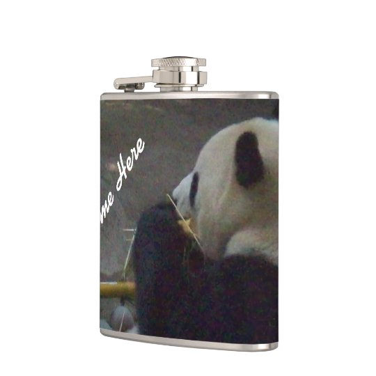 Panda Bear Bamboo Flask