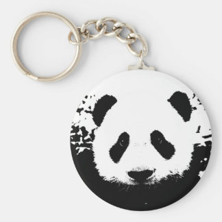 Panda Bear Basic Round Button Key Ring