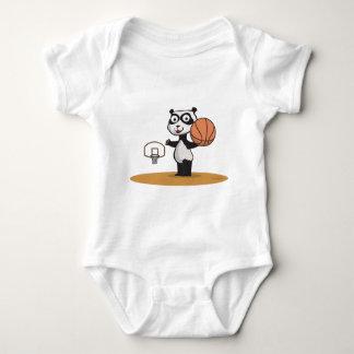 Panda Bear Basketball Baby Bodysuit
