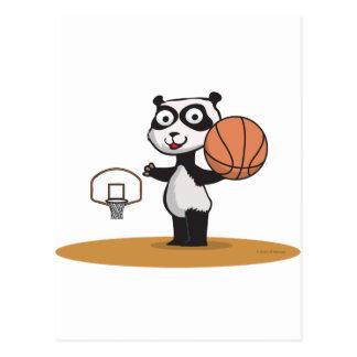 Panda Bear Basketball Postcard