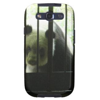 Panda Bear Behind Bars Samsung Galaxy S3 Cases