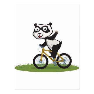 Panda Bear Biker Post Card