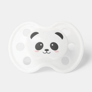 Panda Bear Black and White Binky Dummy