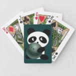Panda bear  bowler playing cards