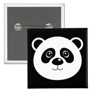 Panda Bear Button Badge Pin