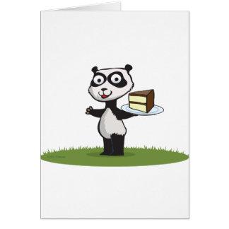 Panda Bear Cake Greeting Card
